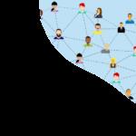 Online Marketing - Hintergrund-menschen-im-netzwerk