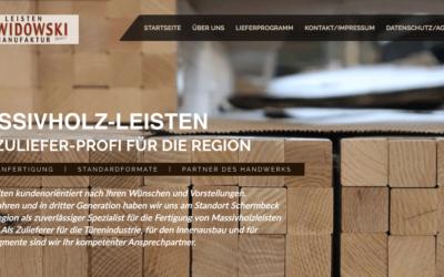 Responsive Webseite B2B – Leistenmanufaktur