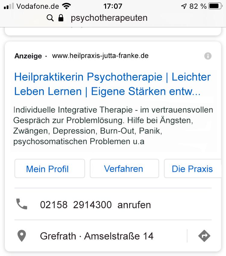 GoogleAd-Anzeige-regional-Heilpraktikerin