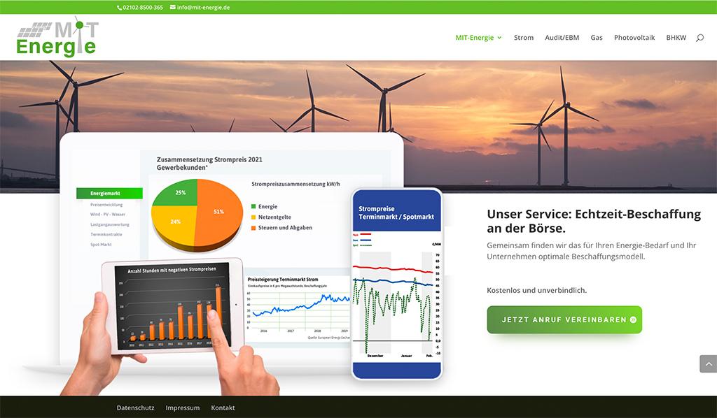 Print- und Internetdesign | Energievertrieb B2B
